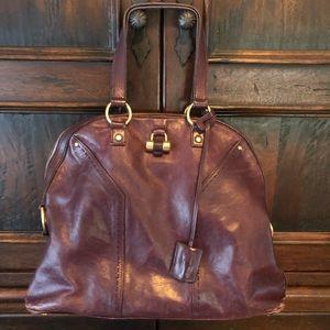 YSL oversized muse bag black cherry